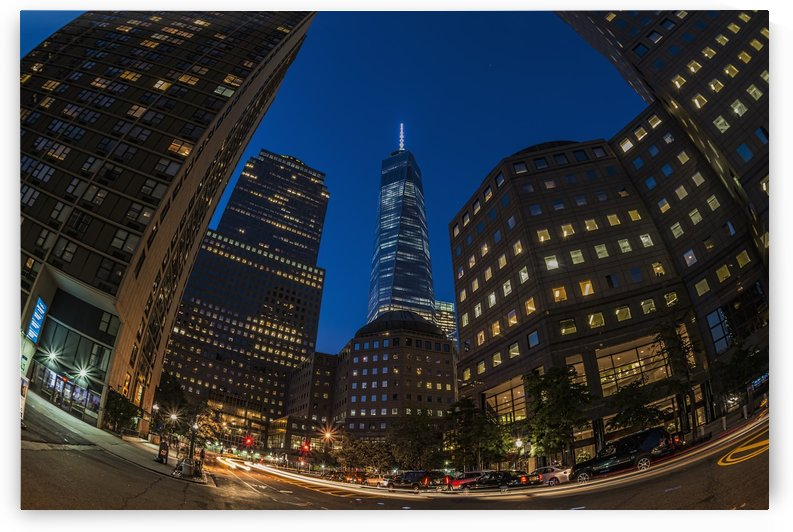 World Trade Center at twilight, Battery Park City; New York, New York City, United States of America by PacificStock