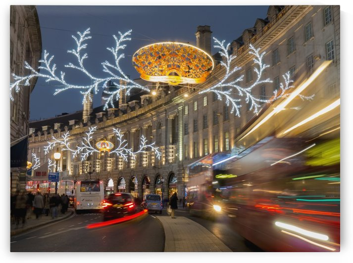 Regent Street decorated for Christmas; London, England by PacificStock