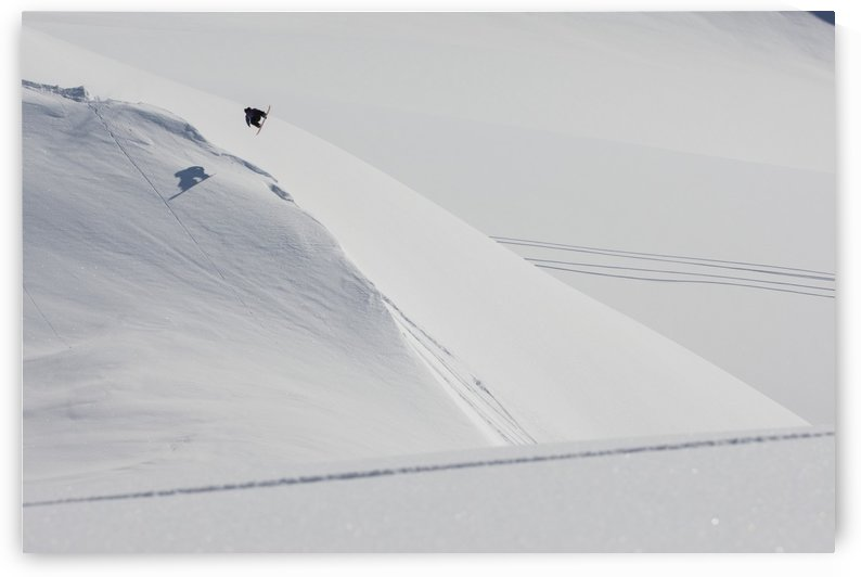 Professional snowboarder, Marko Grilc, in the Chugach mountains near Haines, Southcentral Alaska, Winter by PacificStock