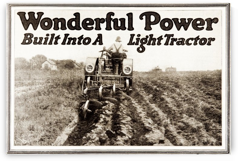 Historic tractor advertisement from early 20th century. by PacificStock