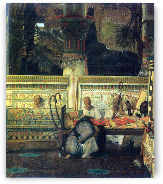 An Egyptian widow at the time of Diocletian, detail by Alma-Tadema by Alma-Tadema