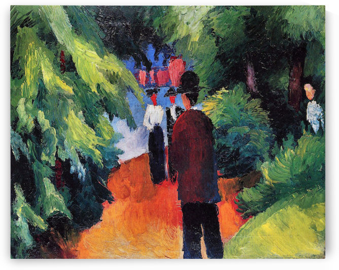 Park on the waterfront by August Macke by August Macke