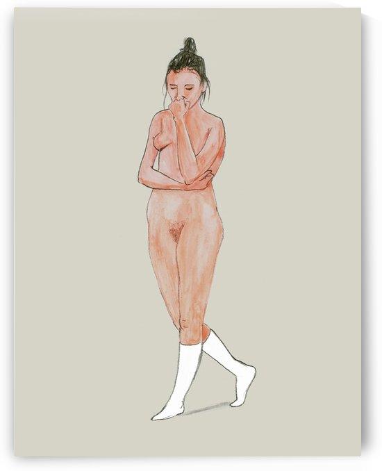 Mira with socks by Dominic Lambert