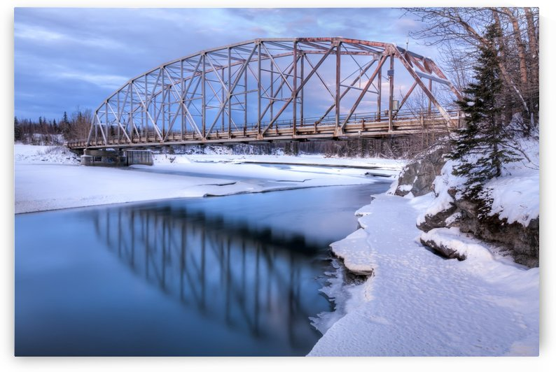 Old Matanuska River Bridge near Palmer in Southcentral Alaska, Winter, HDR by PacificStock