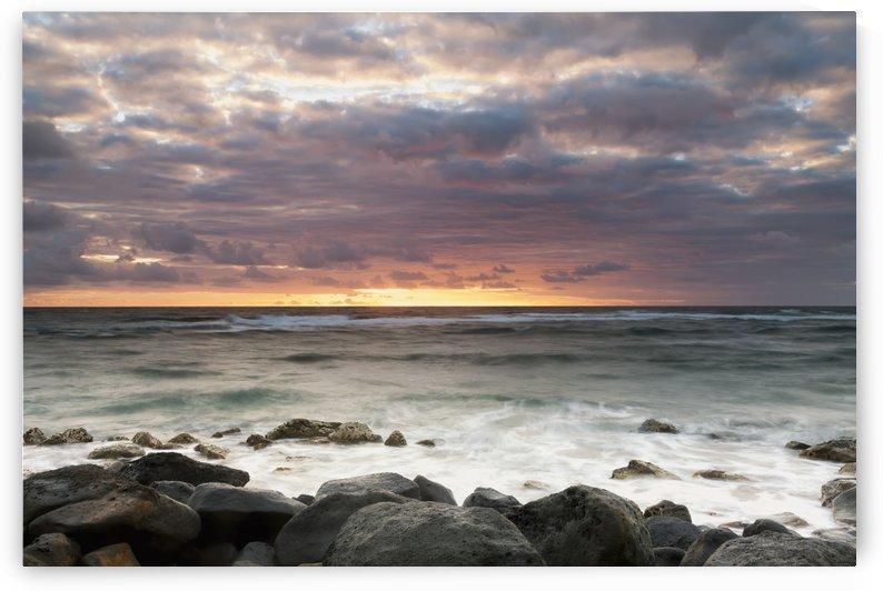 Long exposure of the surf along Wailua Beach; Wailua, Kauai, Hawaii, United States of America by PacificStock