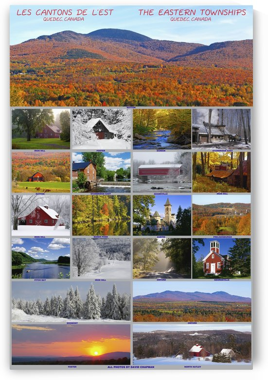 Composite of photographs from various seasons in the Eastern Townships; Quebec, Canada by PacificStock