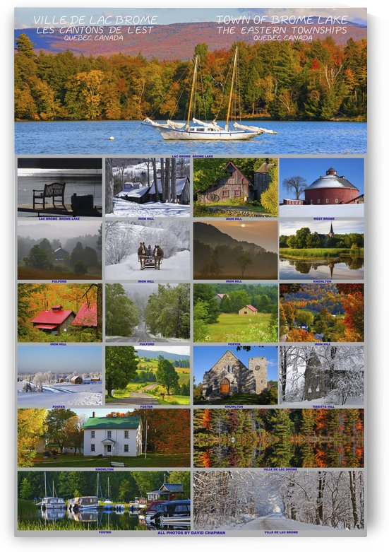 Composite of photographs from various seasons in the town of Brome Lake in the Eastern Townships; Brome Lake, Quebec, Canada by PacificStock