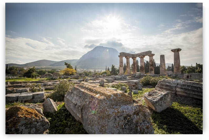 Stone ruins, Temple of Apollo; Corinth, Greece by PacificStock