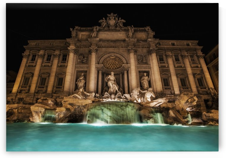 Trevi fountain illuminated at nighttime; Rome, Italy by PacificStock