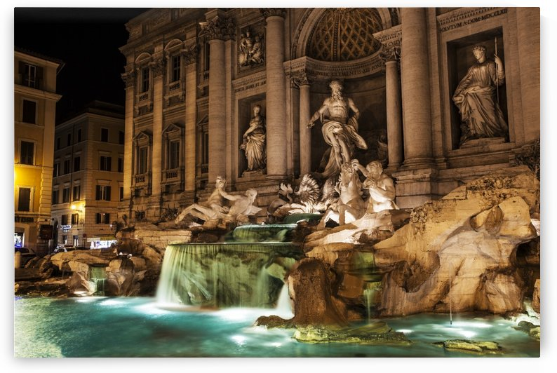 Trevi Fountain at nighttime; Rome, Italy by PacificStock