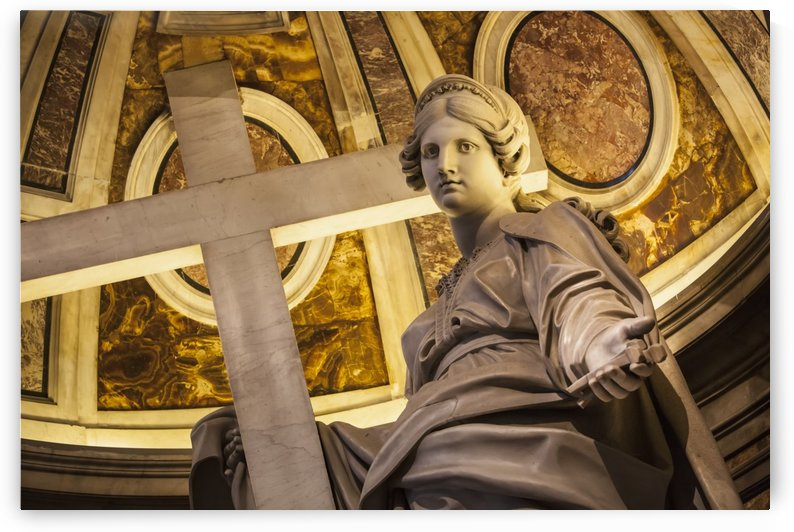 Statue of Saint Helena with a cross, St. Peter's Basilica; Rome, Italy by PacificStock