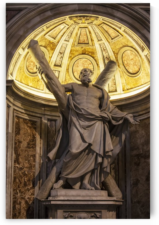 Statue of Saint Andrew, St. Peter's Basilica; Rome, Italy by PacificStock