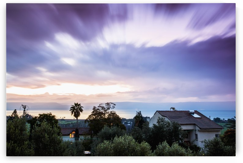 Dramatic cloud formation at sunrise over the sea of Galilee; Israel by PacificStock