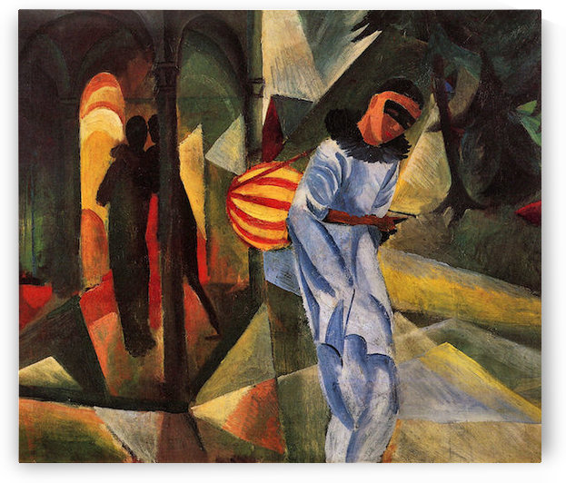 Pierrot by August Macke by August Macke