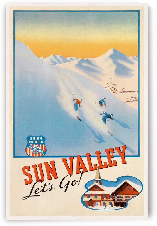 Sun Valley travel poster by VINTAGE POSTER