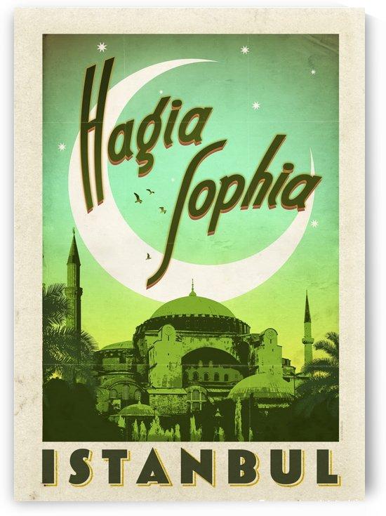 Turkey Hagia Sophia vintage travel poster by VINTAGE POSTER