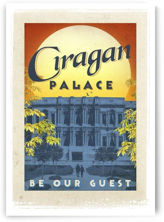 Turkey Ciragan Palace vintage travel poster by VINTAGE POSTER