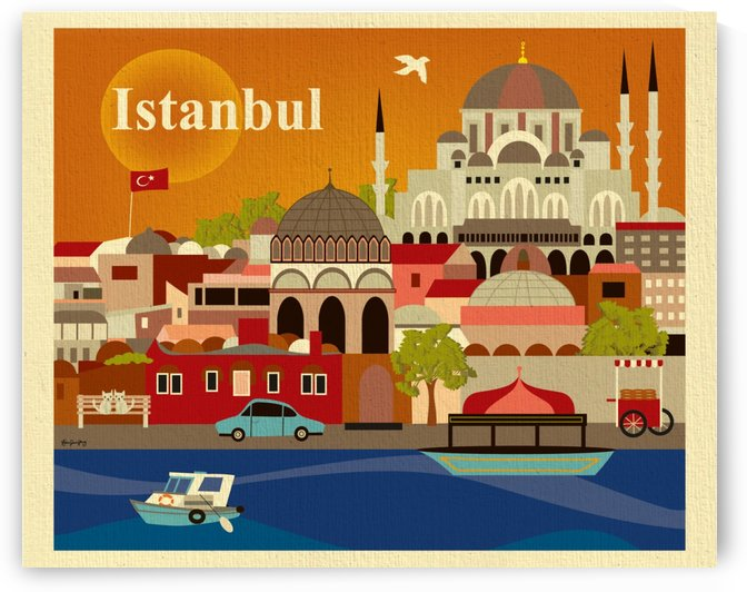 Skyline Istanbul Art Print by VINTAGE POSTER