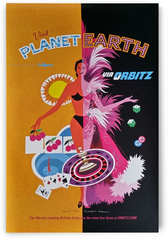 Visit Planet Earth via Orbitz Las Vegas poster by VINTAGE POSTER