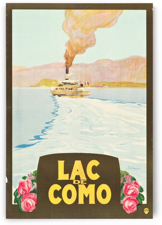 Lake Como, Italy Travel Poster by VINTAGE POSTER