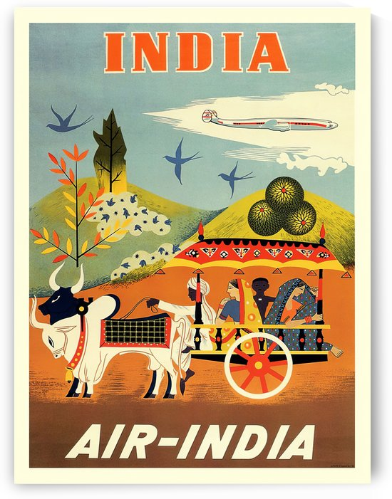 Air India travel poster by VINTAGE POSTER