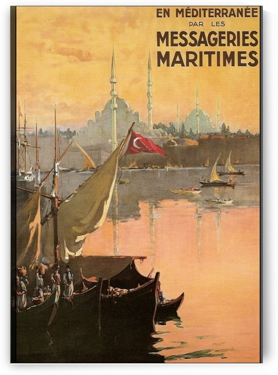 Vintage Constantinople Travel Advertisement Poster by VINTAGE POSTER