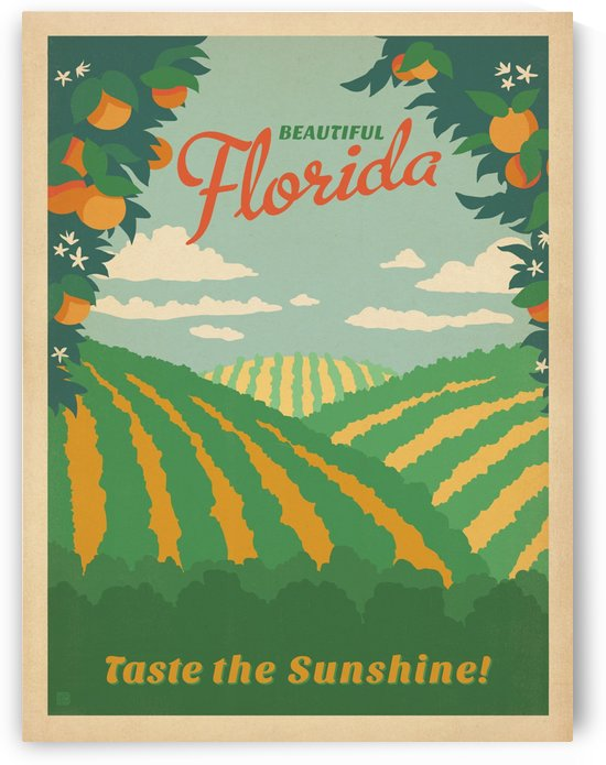 Beautiful Florida Taste the Sunshine by VINTAGE POSTER