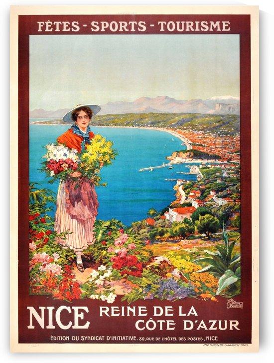 Nice Reine de la Cote dAzur vintage poster by VINTAGE POSTER
