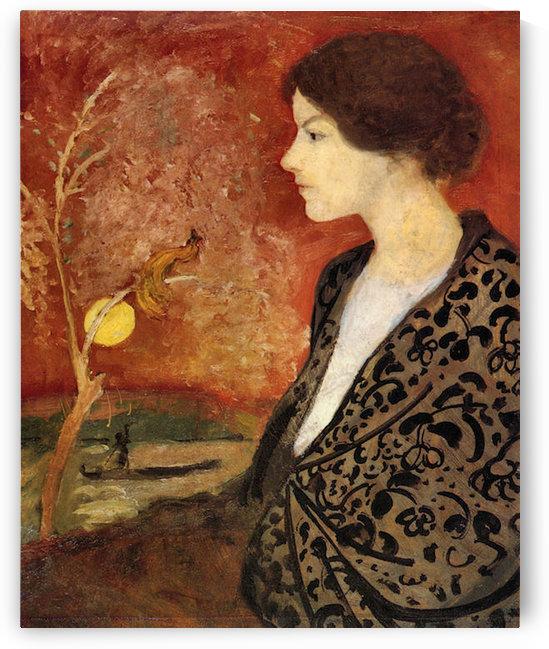 Portrait of Elisabeth Gerhardt by August Macke by August Macke
