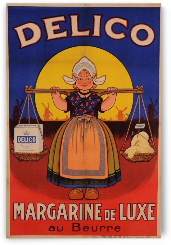 Delico margarine de luxe au Beurre poster by VINTAGE POSTER
