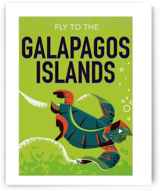 Galapagos Islands vintage travel poster by VINTAGE POSTER