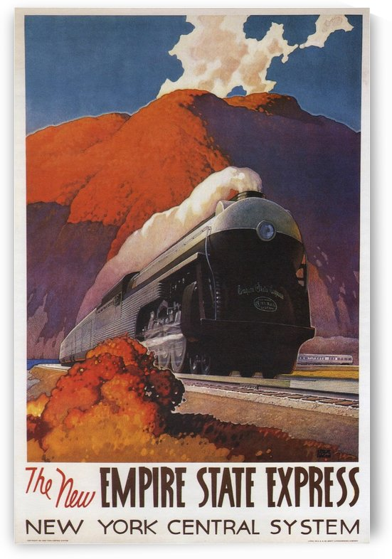 1941 The New Empire State Express poster by VINTAGE POSTER