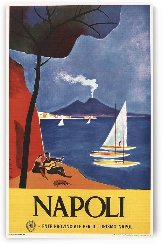 Napoli vintage Italian poster by VINTAGE POSTER