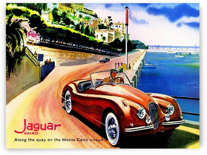Jaguar Advertising Vintage Poster by VINTAGE POSTER