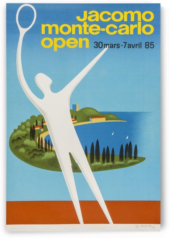 Monte Carlo Open Original Vintage Tennis Poster by VINTAGE POSTER