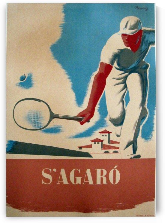 SAgaro Tennis Open Vintage Poster by VINTAGE POSTER
