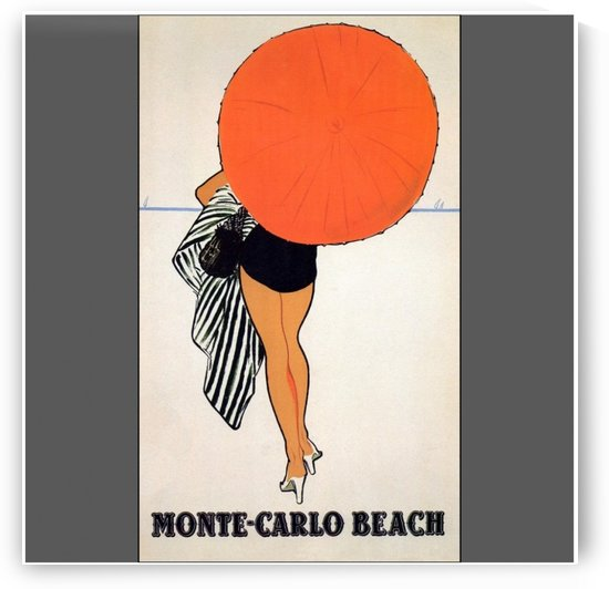 Vintage travel poster for Monte Carlo Beach by VINTAGE POSTER