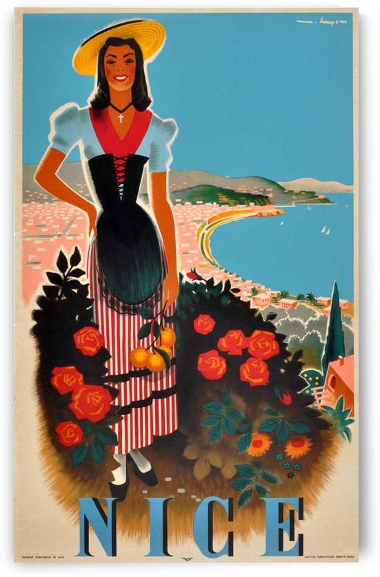 Vintage poster for Nice, French Riviera by VINTAGE POSTER