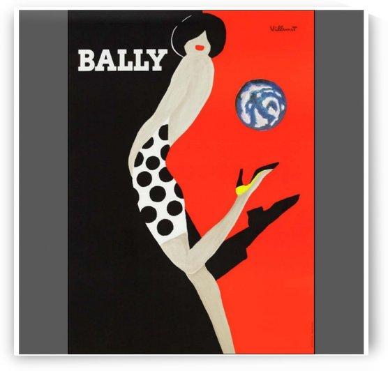 Vintage Art Villemot Red Bally Kick Poster Print by VINTAGE POSTER