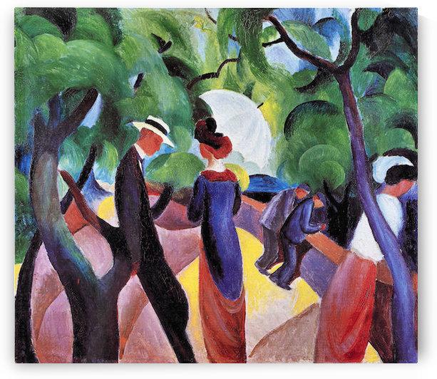 Promenade by August Macke by August Macke