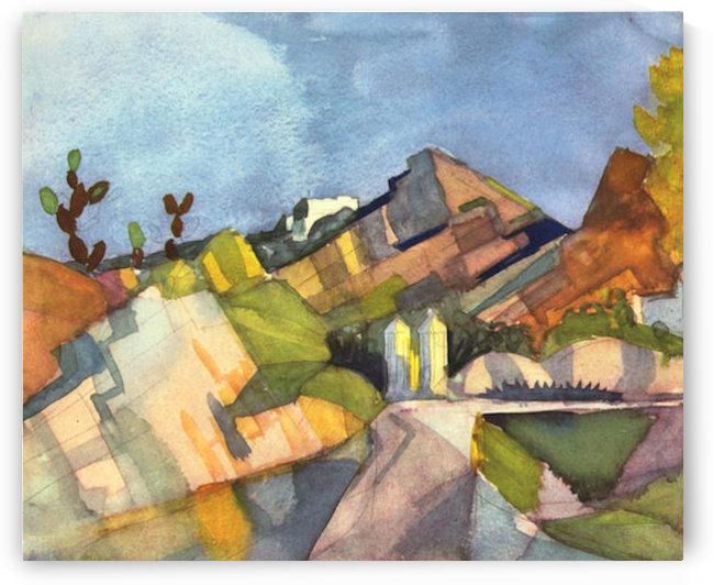 Rocky Landscape by August Macke by August Macke