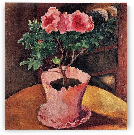 Rose Azaleas by August Macke by August Macke