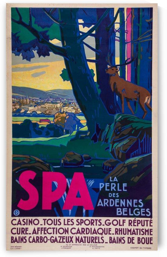 La perle des Ardennes Belges original poster by VINTAGE POSTER