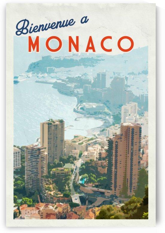 Bienvenue a Monaco poster by VINTAGE POSTER