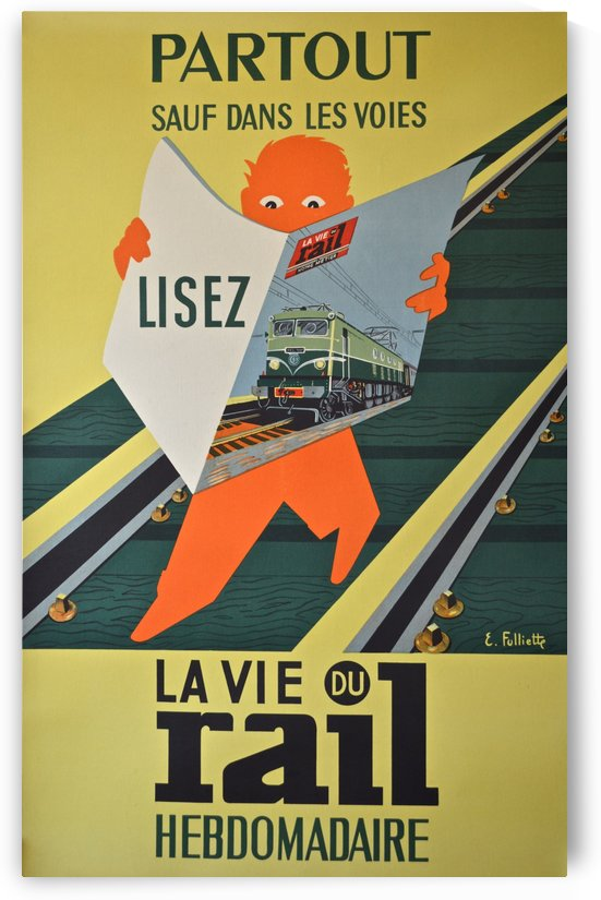 La Vie du Rail Hebdomadaire vintage poster by VINTAGE POSTER