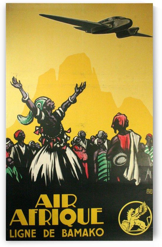 Air Afrique Ligne de Bamako Poster by VINTAGE POSTER