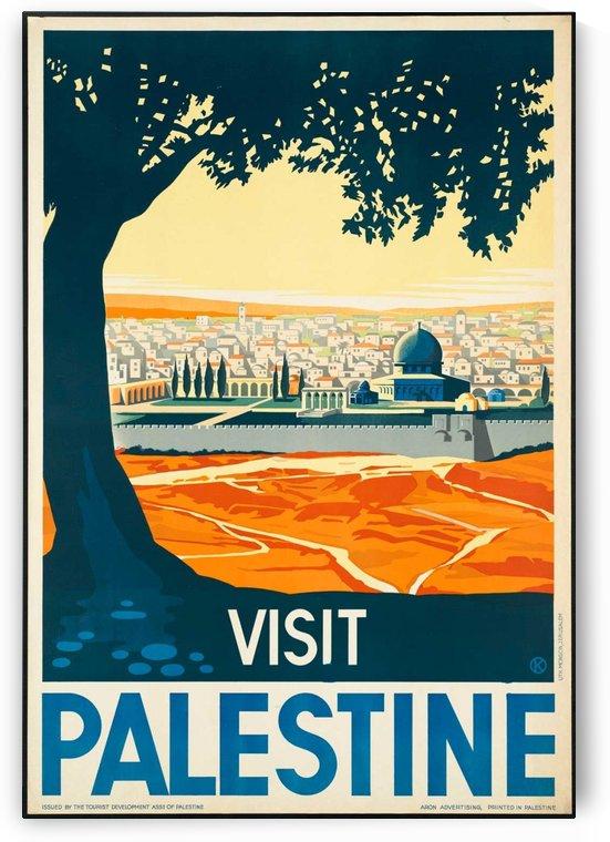 Visit Palestine travel poster by VINTAGE POSTER