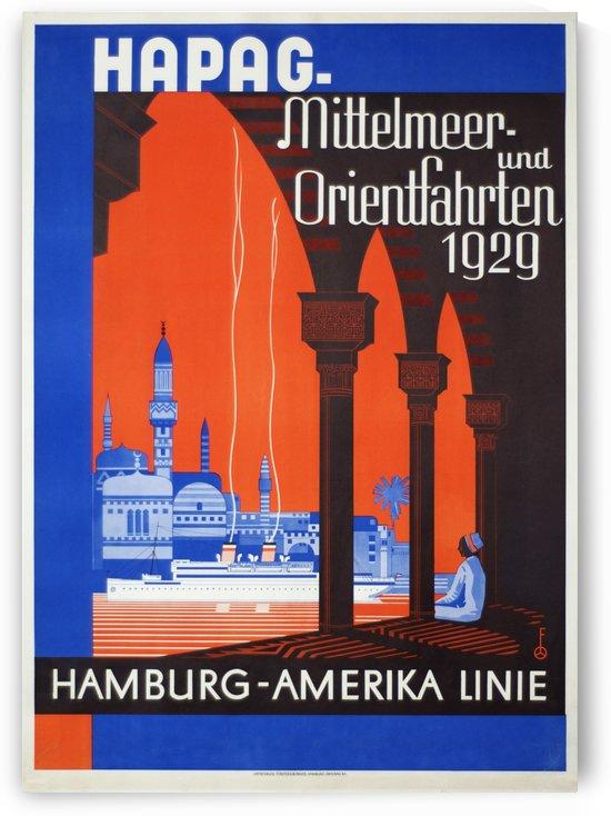 Hapag mittelmeer und Orientfahrten 1929 poster by VINTAGE POSTER