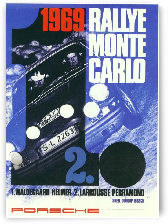 1969 Rallye Monte Carlo poster by VINTAGE POSTER