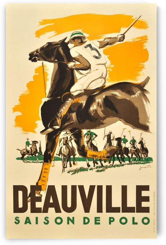 Original vintage poster for the 1938 Deauville Polo Season by VINTAGE POSTER